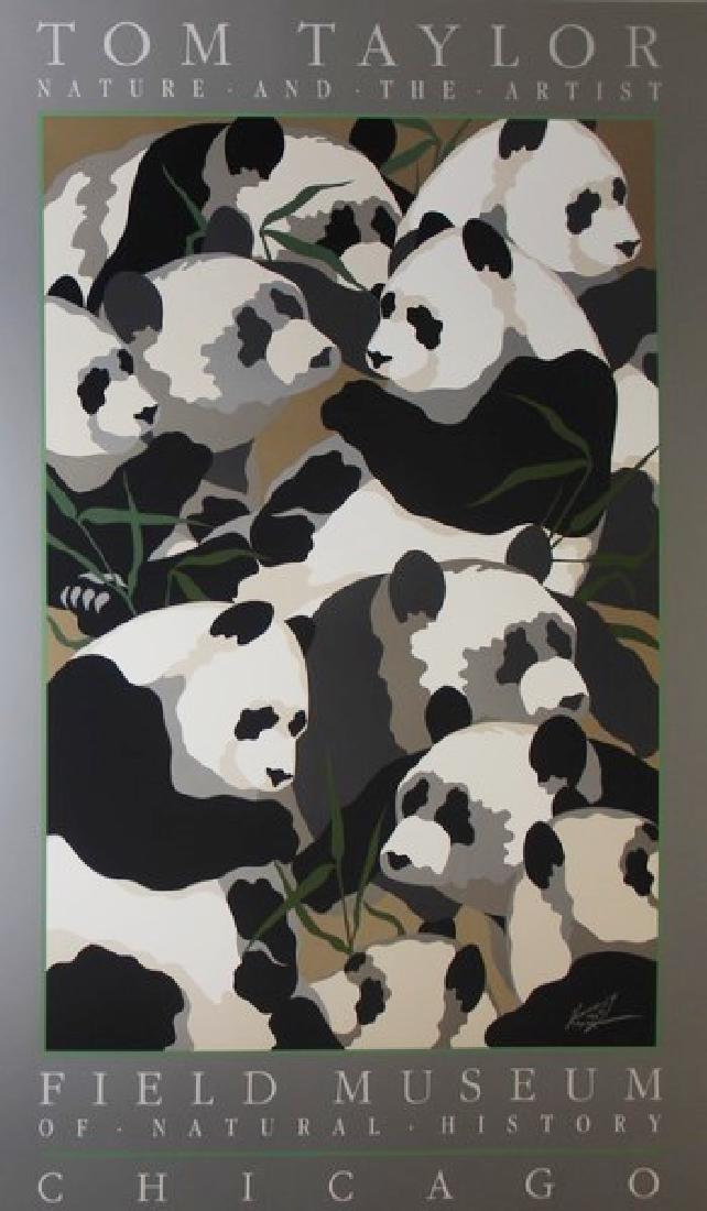 Signed Lithograph Thomas Taylor - Pandas