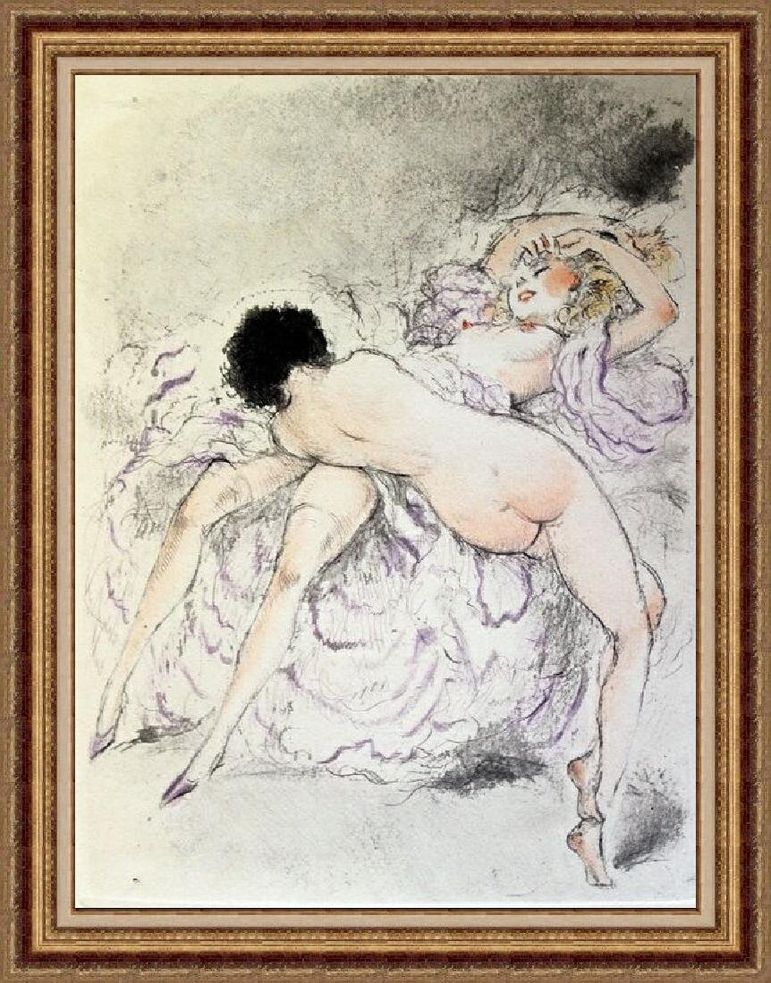 Original Etching Louis Icart - Foreplay