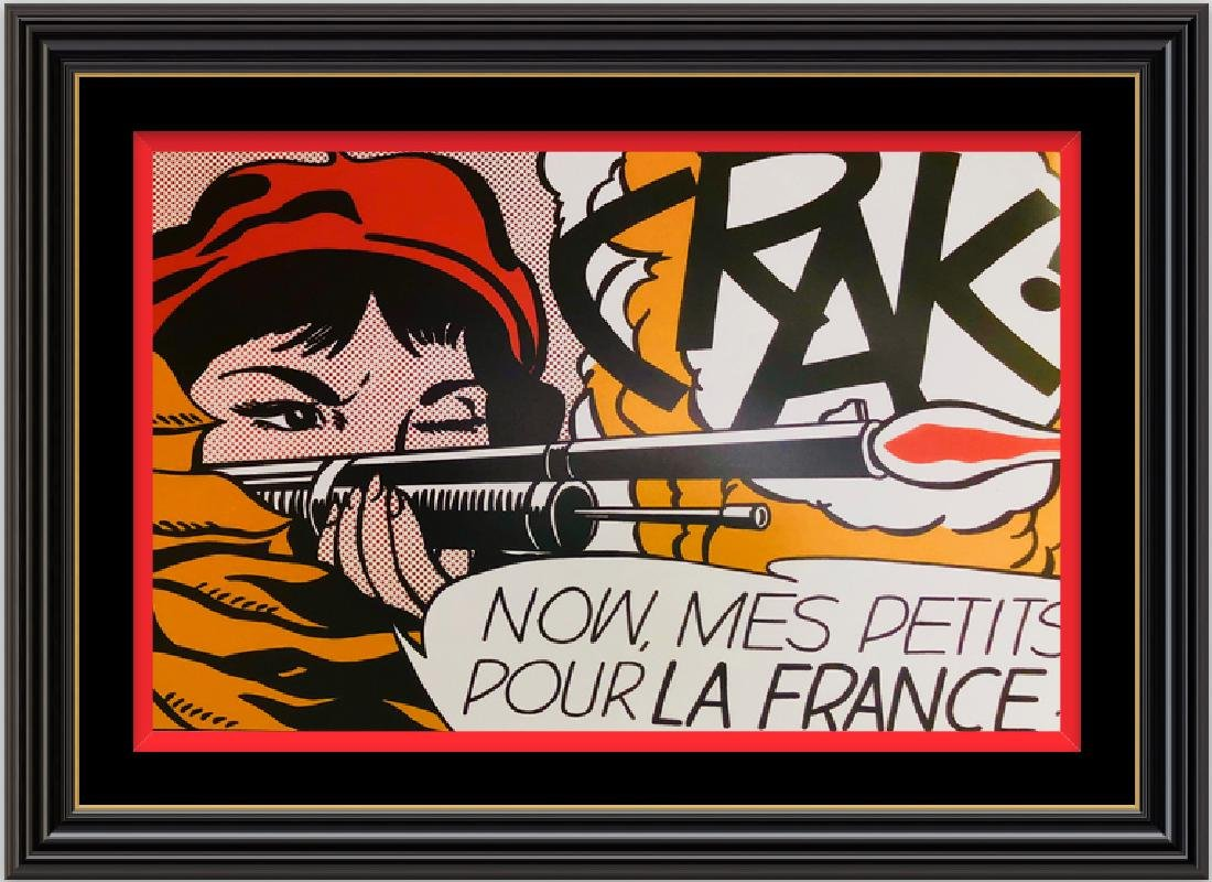 Crak , 1963 by Roy Lichtenstein -Pop Art Silk Poster