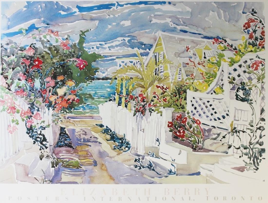 Lithograph Elizabeth Berry - Morning Pier