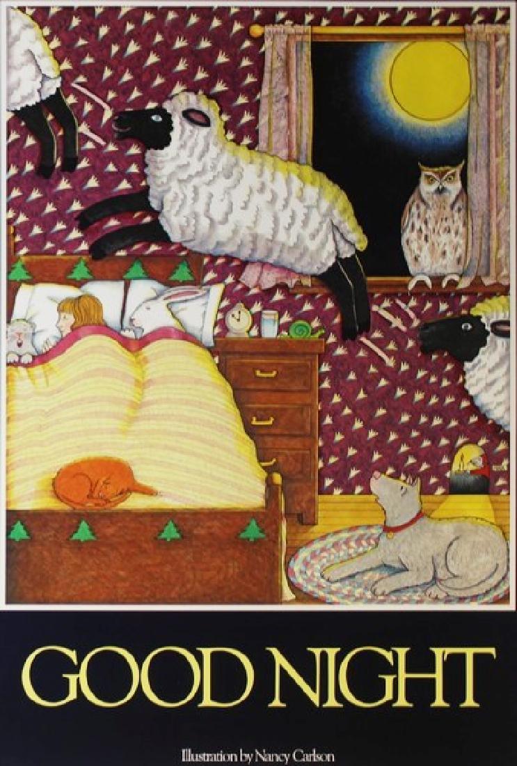 Offset Lithograph Nancy Carlson - Goodnight