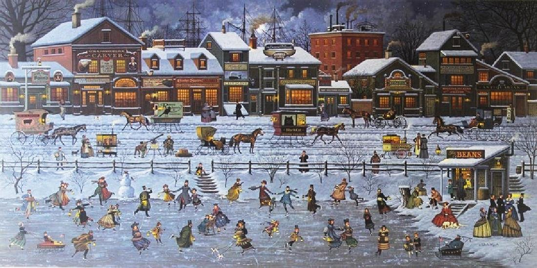 Signed Lithograph Charles Wysocki Bostonians & Beans