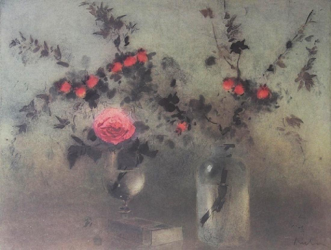 Signed Lithograph Kaiko Moti - Roses