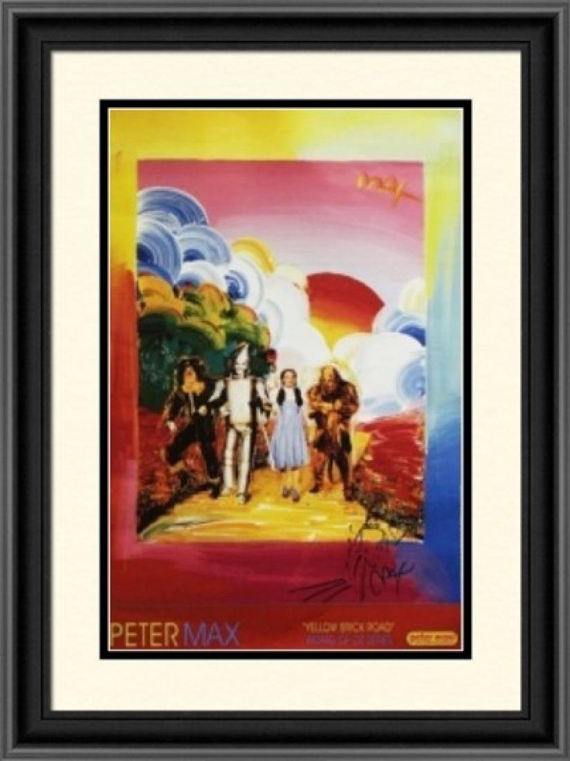 Hand Signed Peter Max Mixed Media - Wizard of Oz