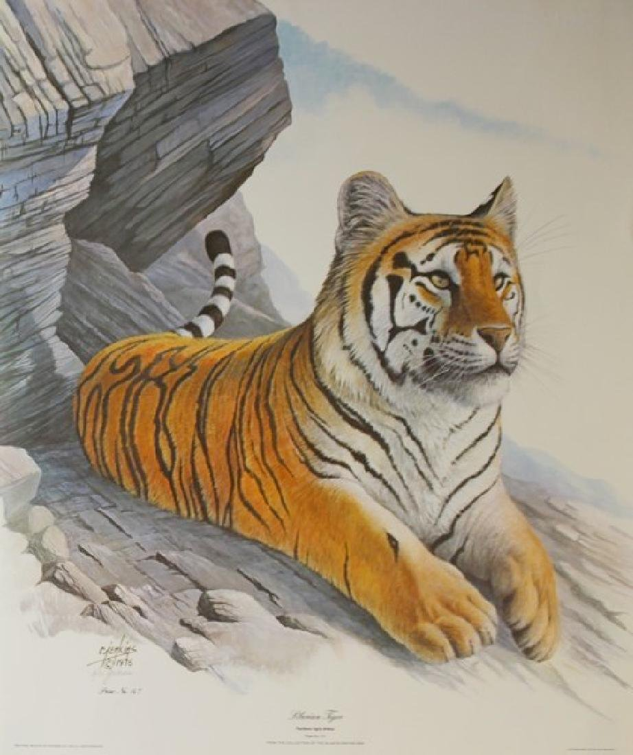 Hand Signed Ltd Ed Ron Jenkins Siberian Tiger