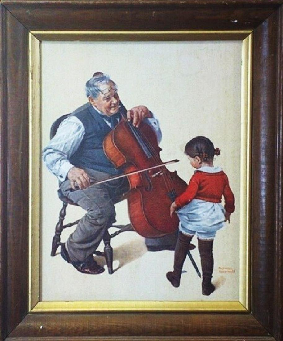 Cellist and Little Girl Dancing