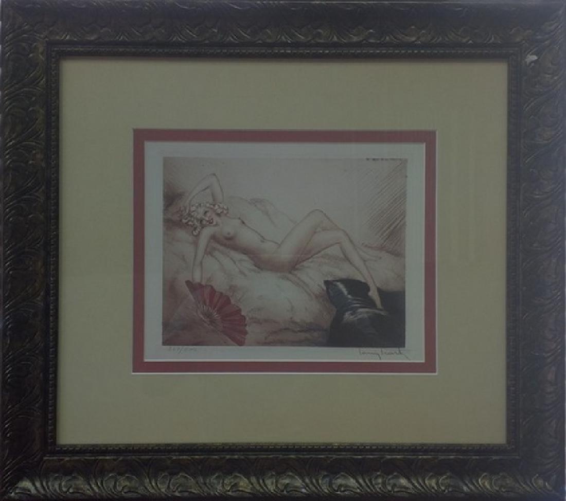 Red Fan 1940' - Louis Icart- Etching