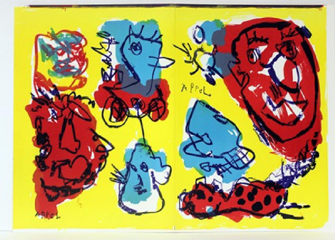 Original Lithographs Karel Appel & Tom Wesselman