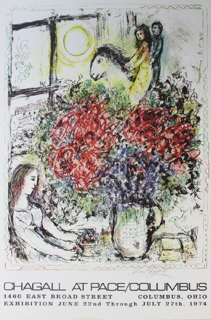 Original Marc Chagall At Pace/Columbus 1974
