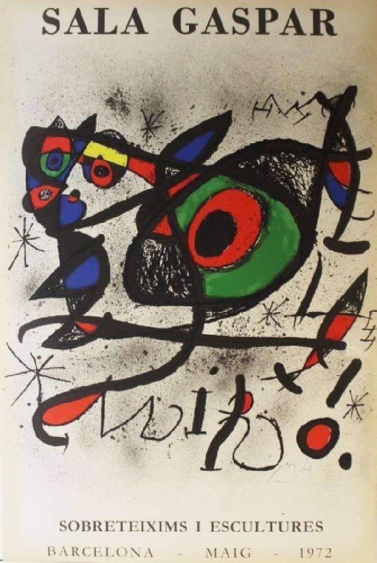Original Joan Miro Sala Gaspar Barcelona 1972