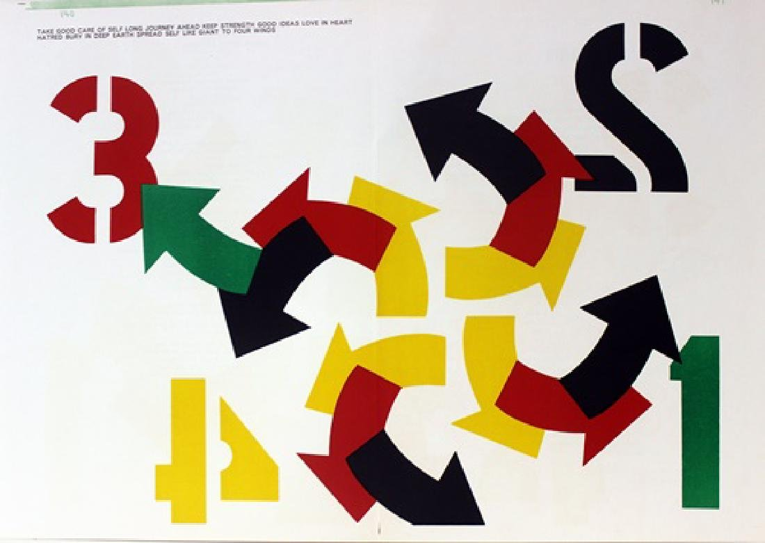Original Lithograph Robert Indiana - Four Winds
