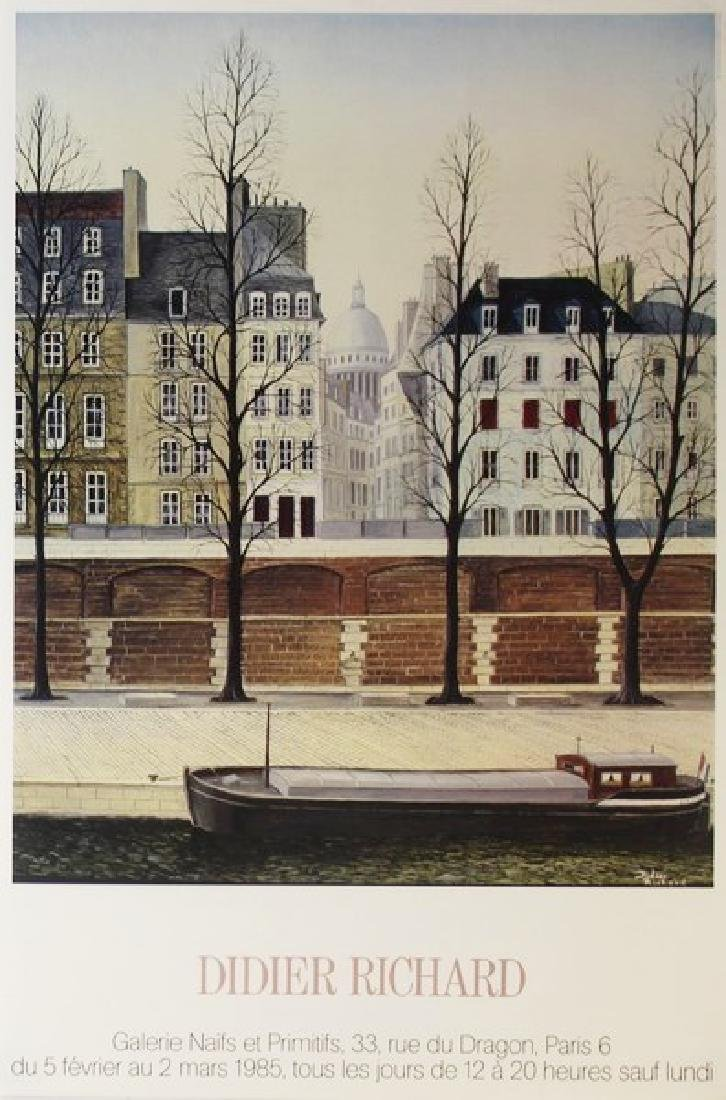 Fine Art Lithograph Dider Richard - House Boat