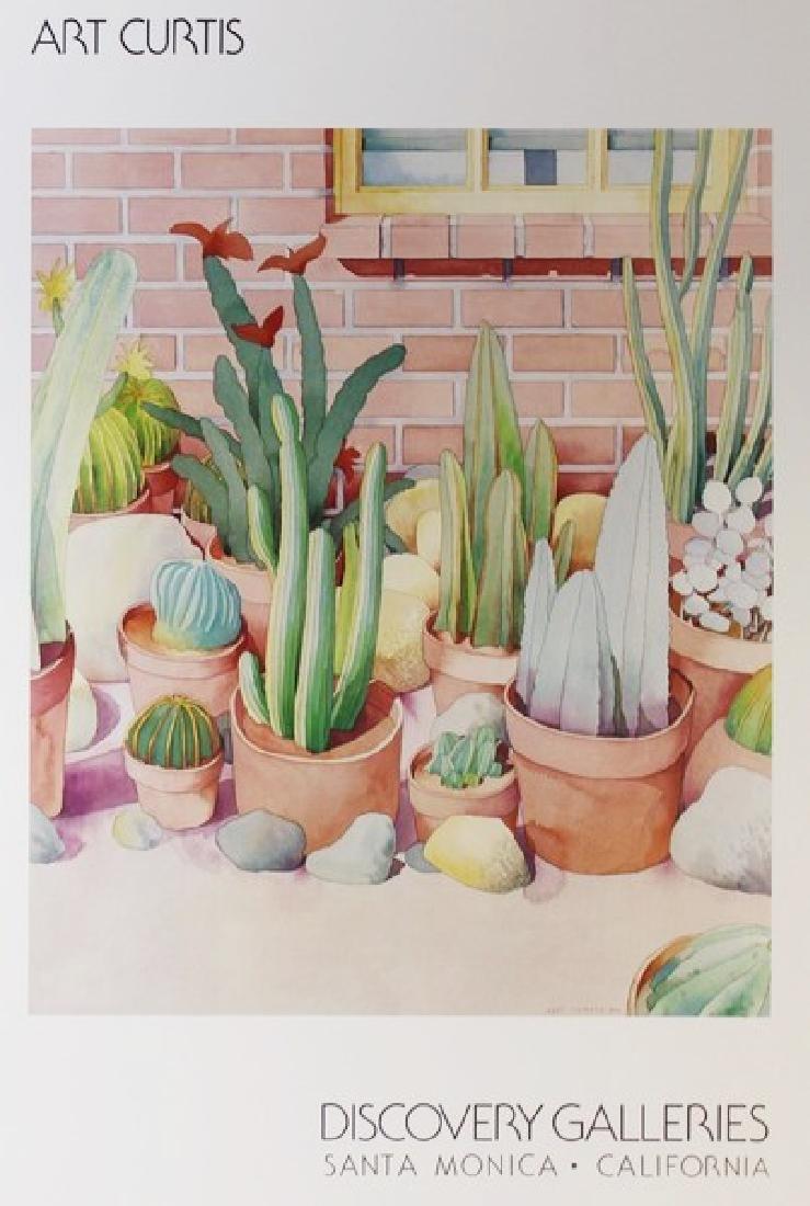 Signed Lithograph Art Curtis - Cactus