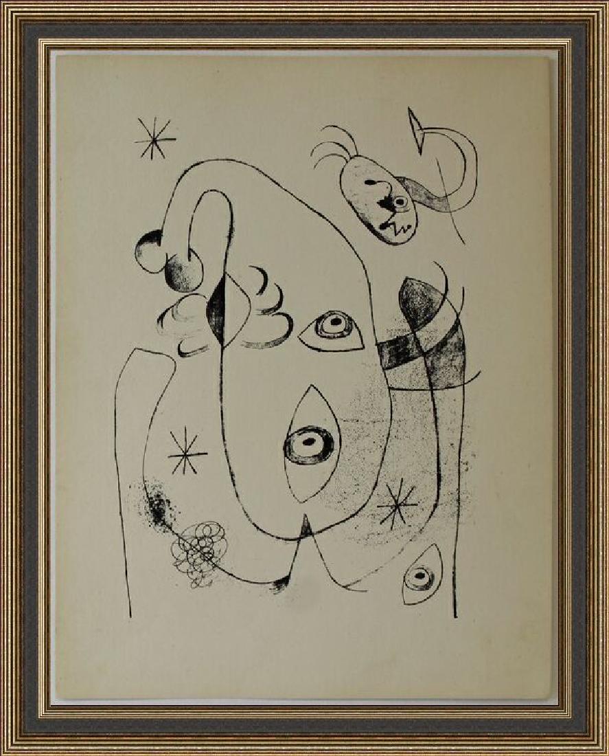 Lithograph XIX 1944 by Joan Miro