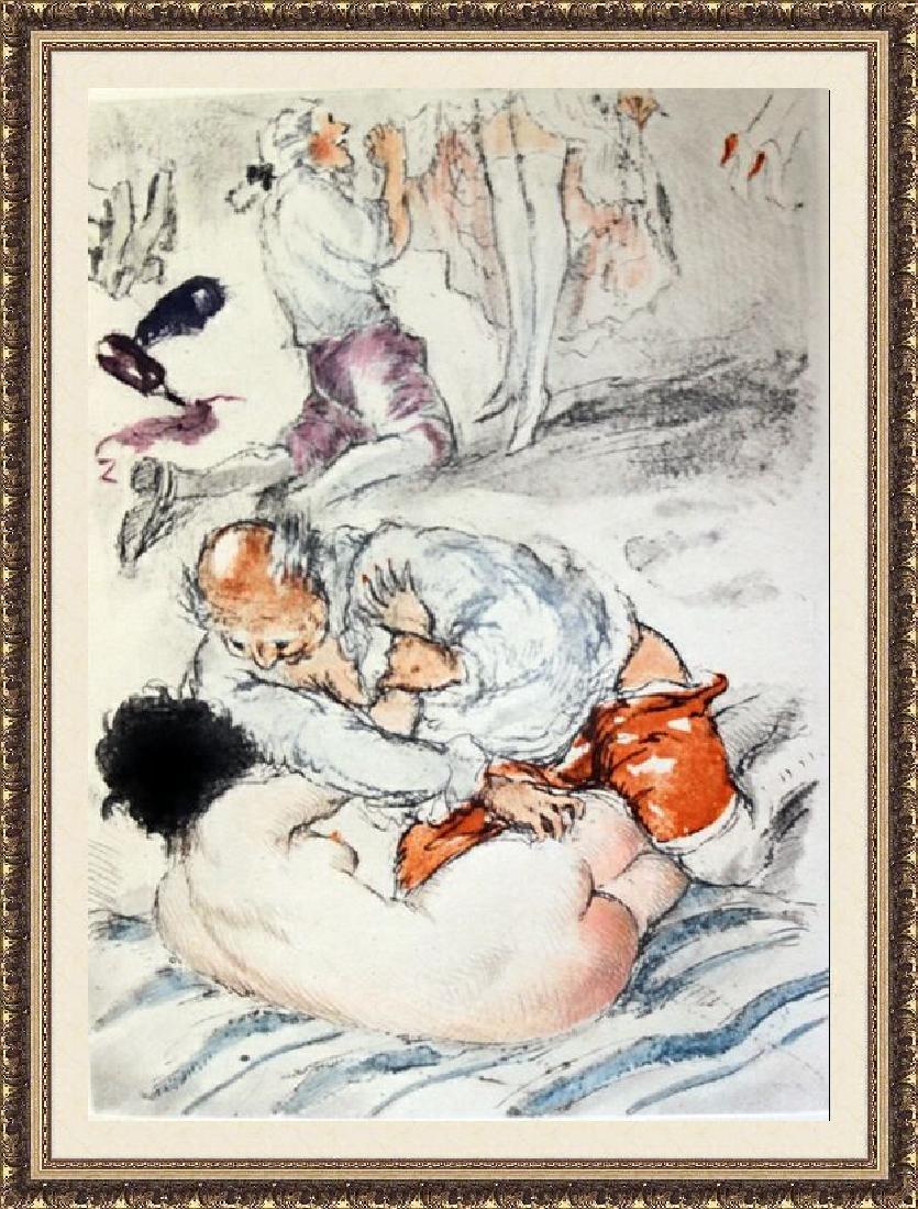 Original Etching Louis Icart - Orgy Prelude
