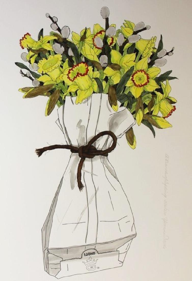 Hand Signed Ltd Ed Yvonne Davis- A Bunch of Spring