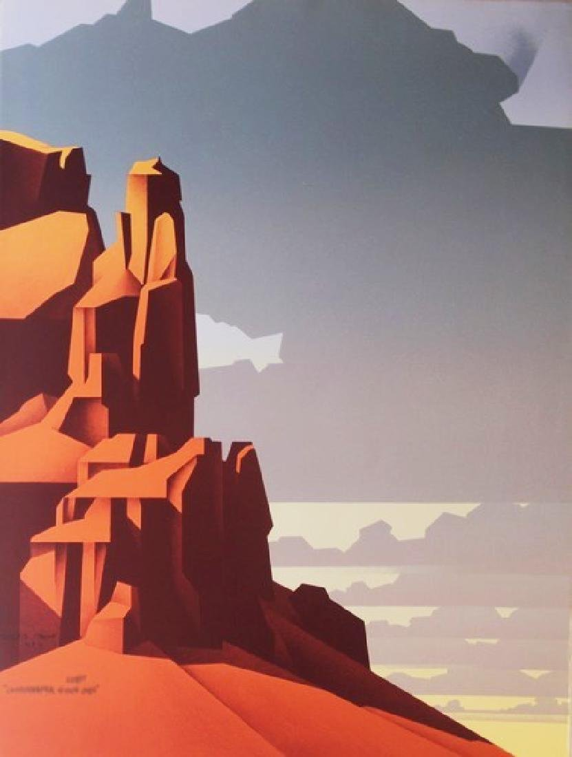 Fine Art Lithograph Manhaffy - Red Rock Afternoons