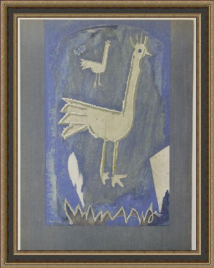 Lithograph Georges Braque - Frontice Piece Verve 1952