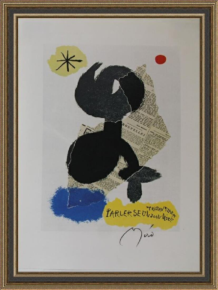 Rare Color Lithograph by Joan Miro