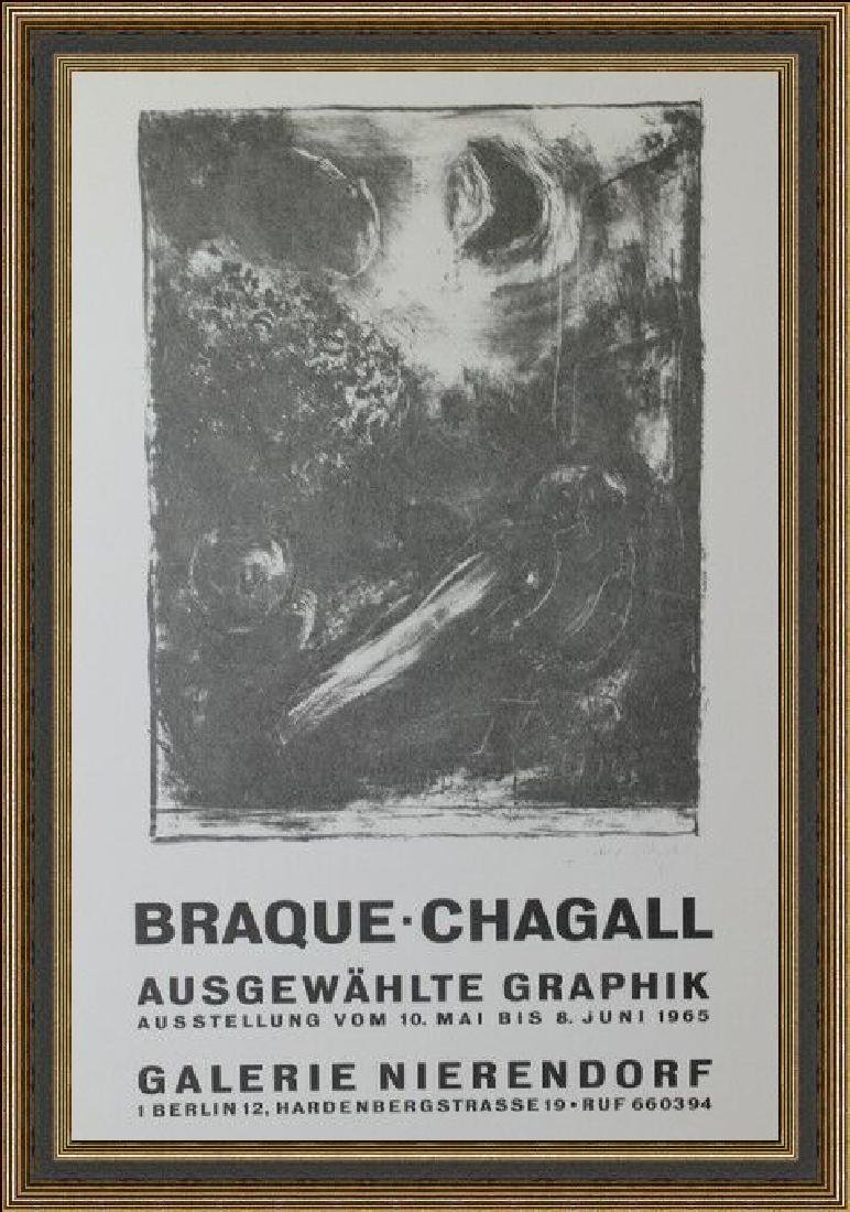 Lithograph Georges Braque - Chagall Exhibition