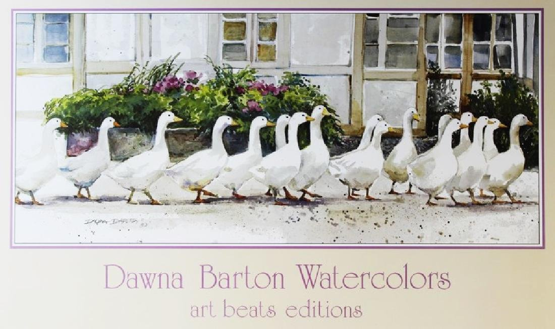 Signed Offset Lithograph Dawna Barton