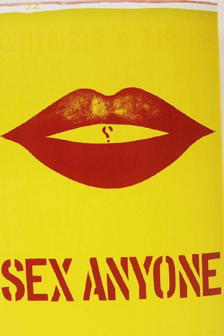 Original Lithograph Robert Indiana - Sex Anyone