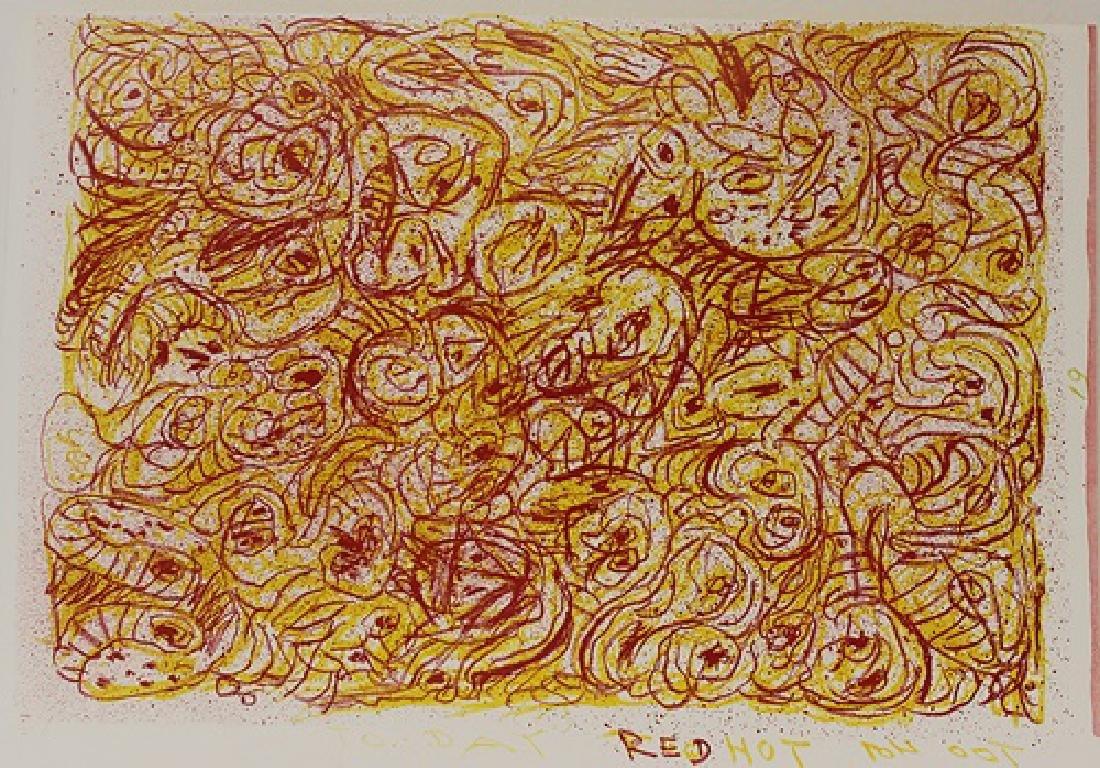 Original Lithograph Pierre Alechinsky