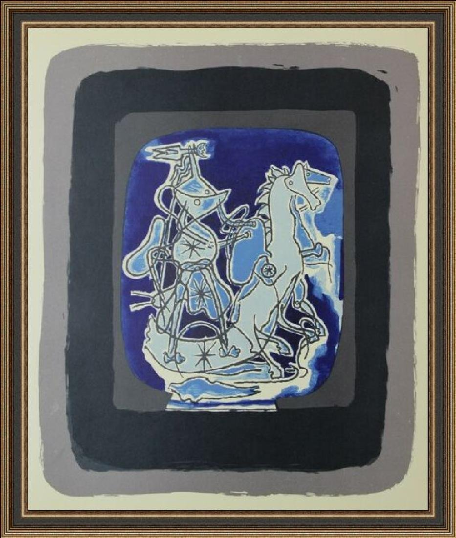 Lithograph Georges Braque - Helios V, 1948