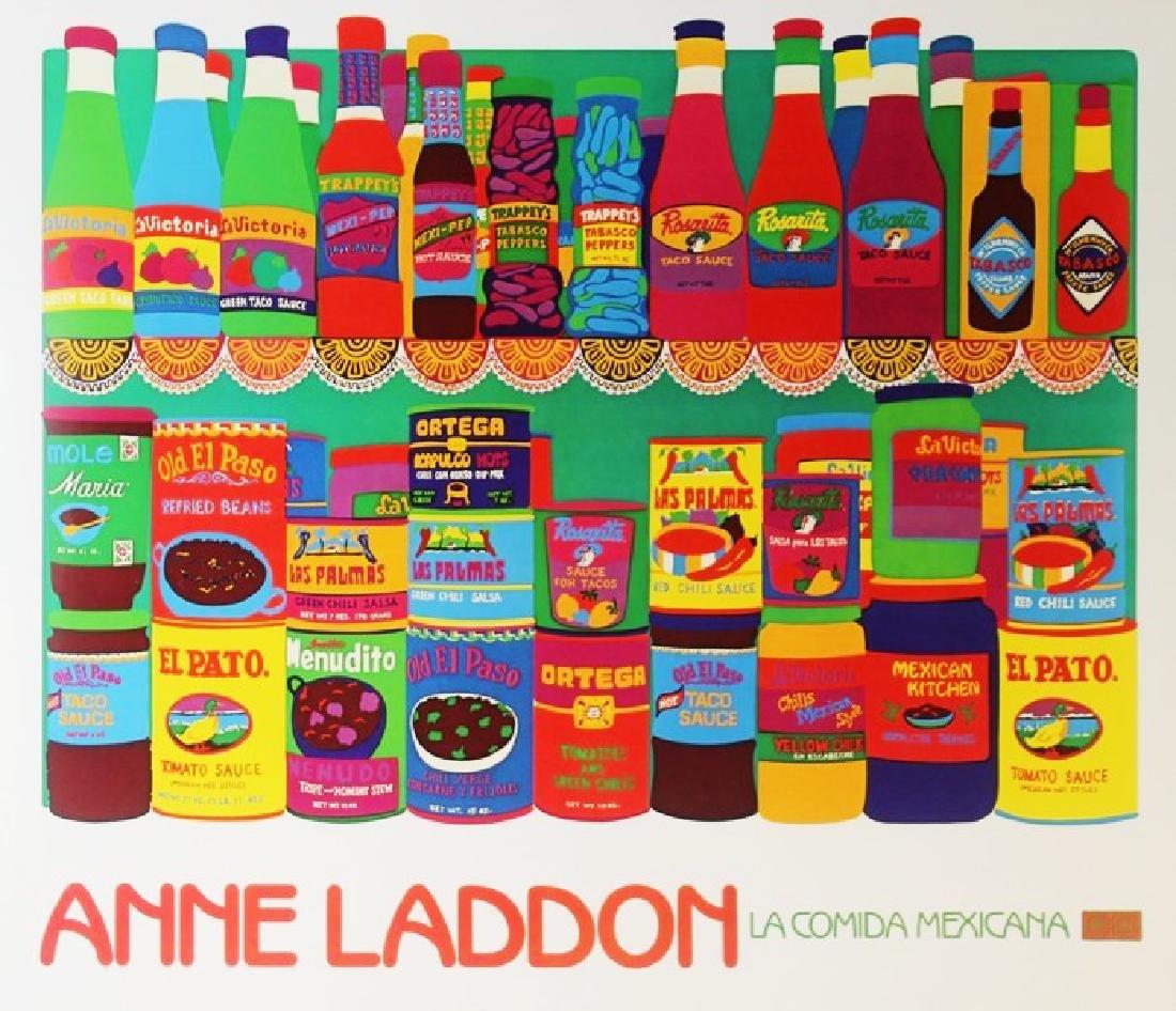 Lithograph Anne London - La Comida Mexicana