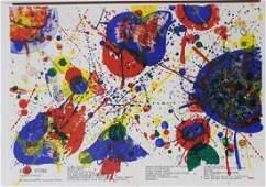 Original Lithographs Sam Francis & Karel Appel