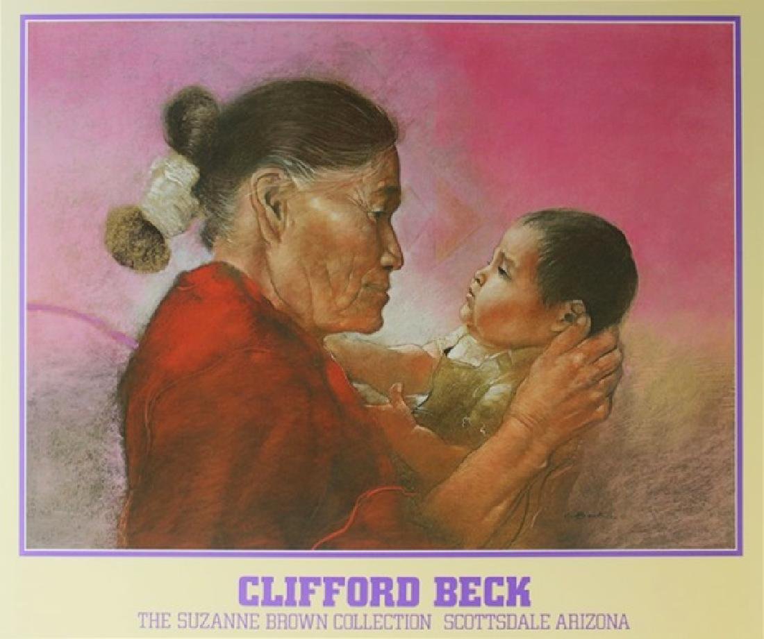Signed Clifford Beck Exhibition Lithograph