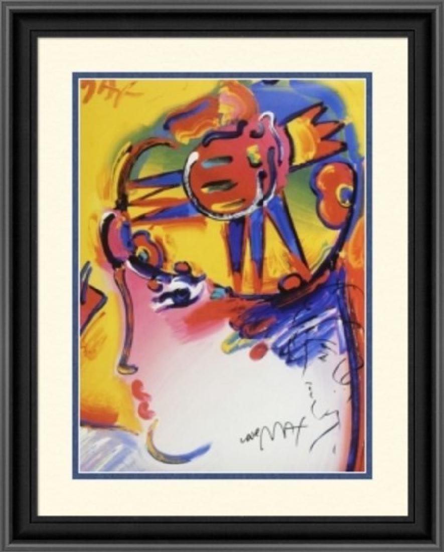 Hand Signed Peter Max Mixed Media