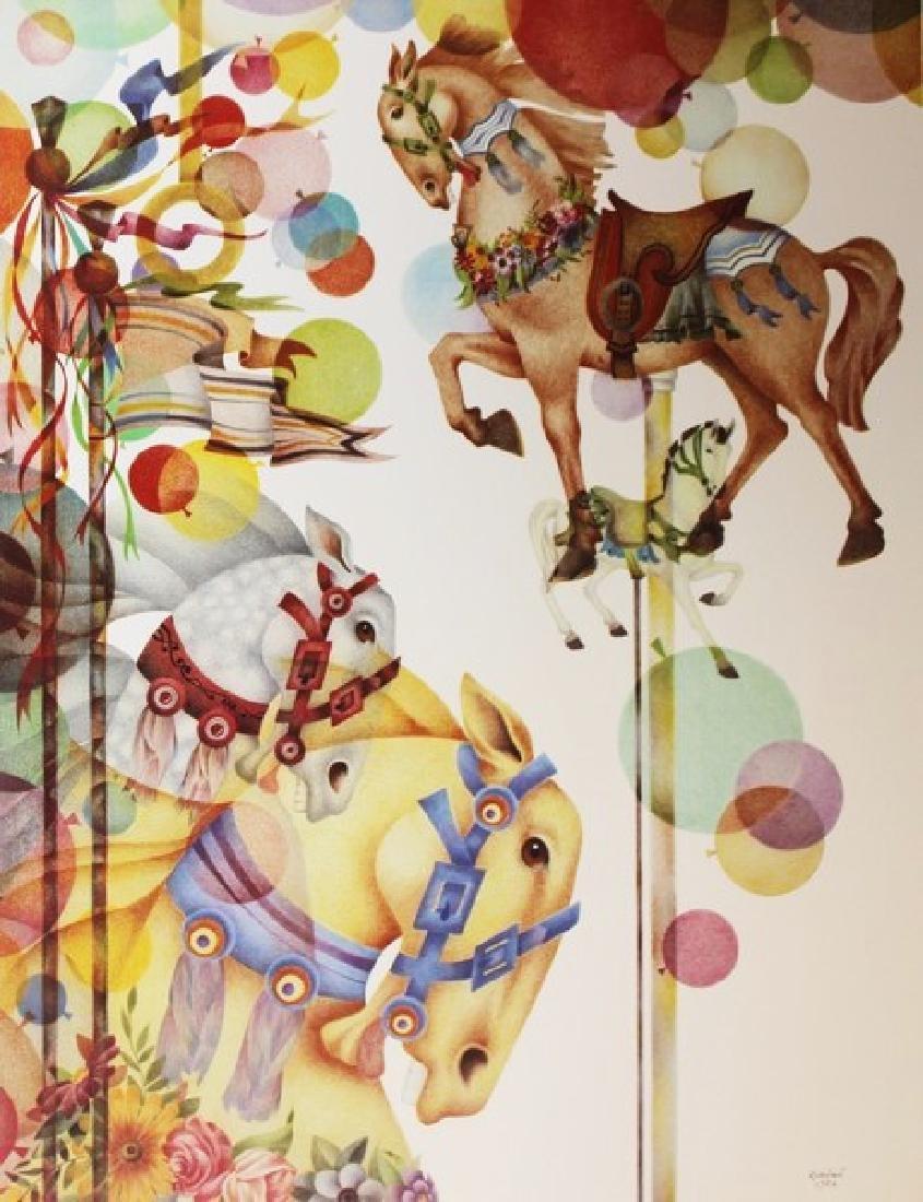 Signed Lithograph Doug Robinson - Summer Carousel