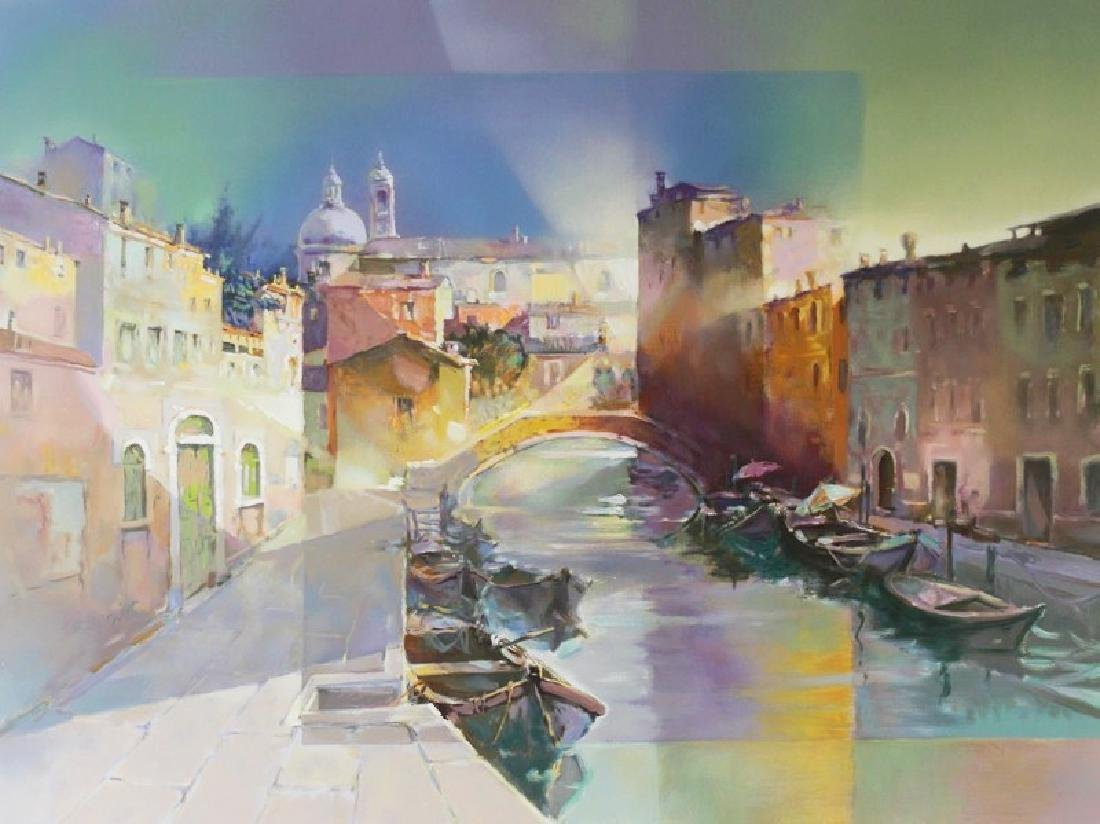 Hand Signed Ltd Ed Elvio Mainardi - Ricordo Venezia