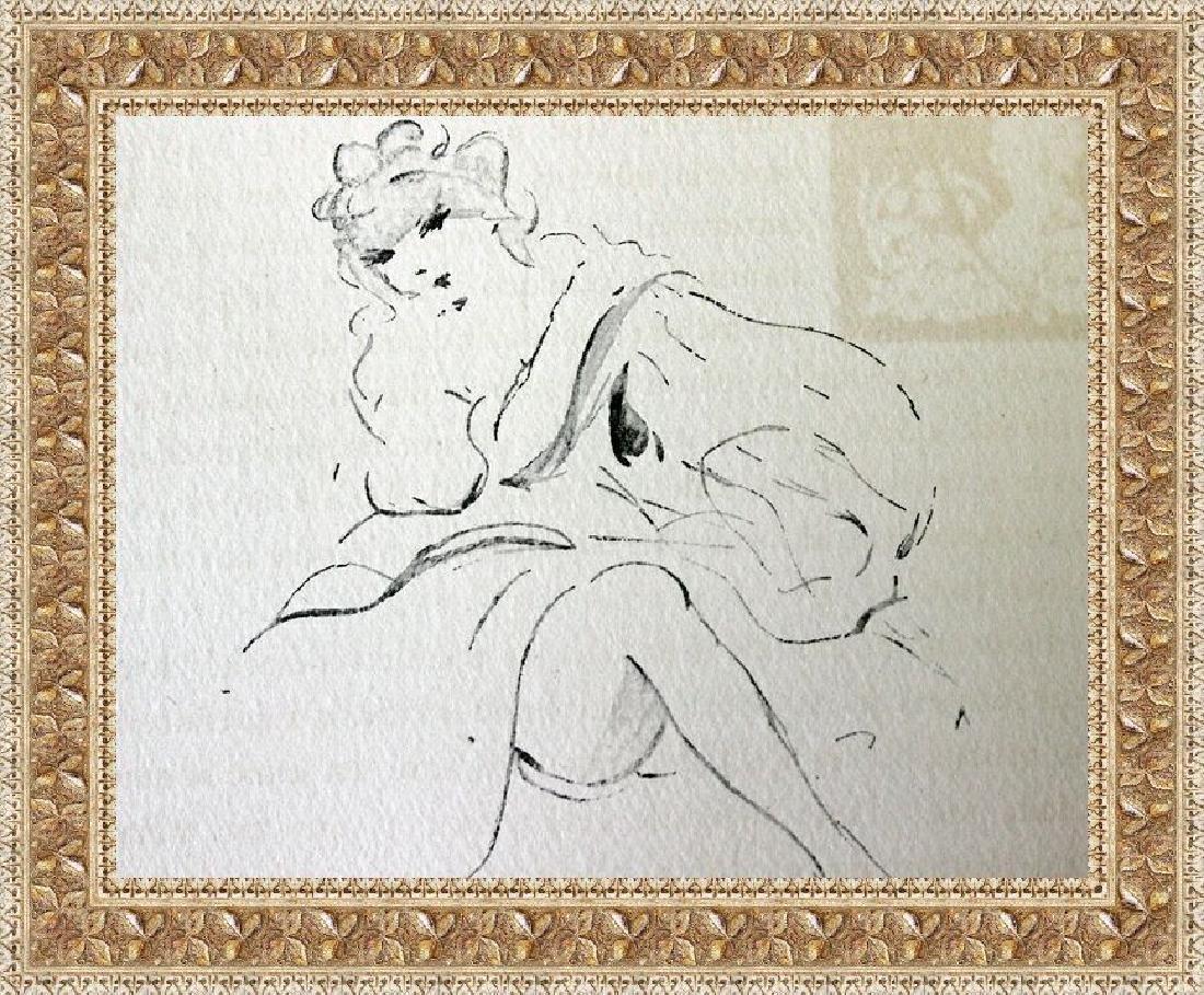 Signed Original Lithograph Culs-De Lampe Icart
