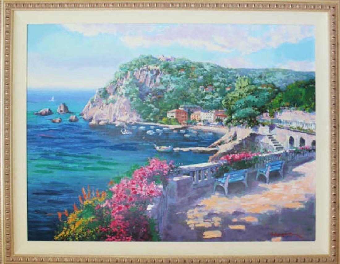 Hand Signed Ltd Ed Sam Park - Costa Brava