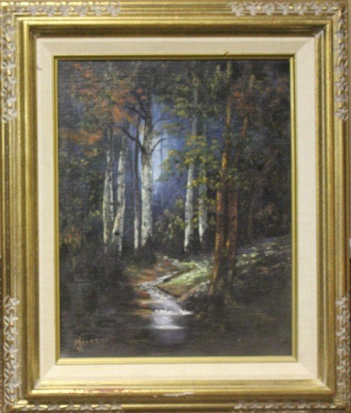 Forest Scene - Original Painting by Meret