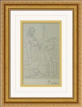 Etching Aristophanes Lysistrata -picasso
