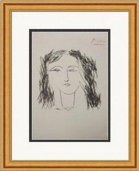 Tete De Femme De Face - Picasso 1948'
