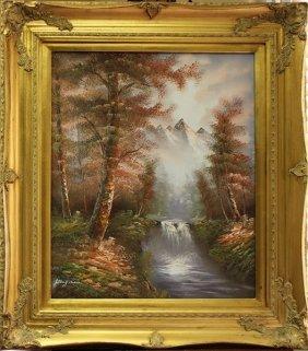 Original Oil Painting By Kingman