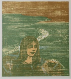 Woman's Head Against The Shore -e. Munch