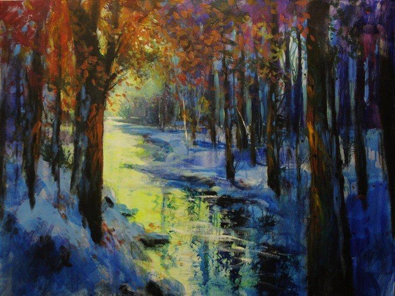 Winter Gold by Michael Schofield (30x40)