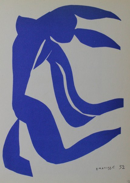 Blue Nude (Hair in the Wind) - H.Matisse
