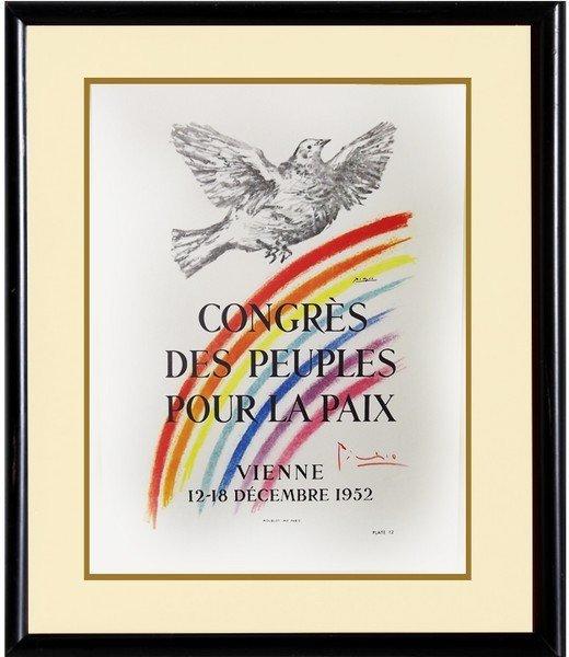 Congres Pour La Paix 1952' -Picasso