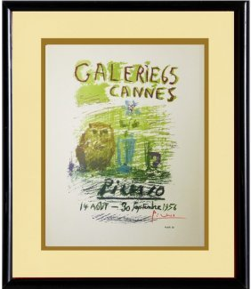 Galerie 65, Cannes 1956' - Picasso