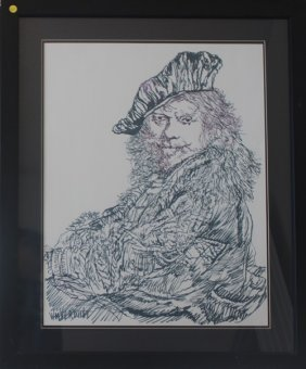 Portrait Of Rembrandt By W. Verdult