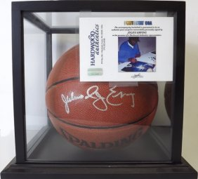 "Authentic ""julius Erving"" Signed Basketball"