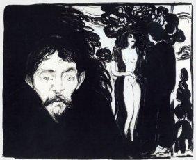 Jealousy 1896' - Edvard Munch