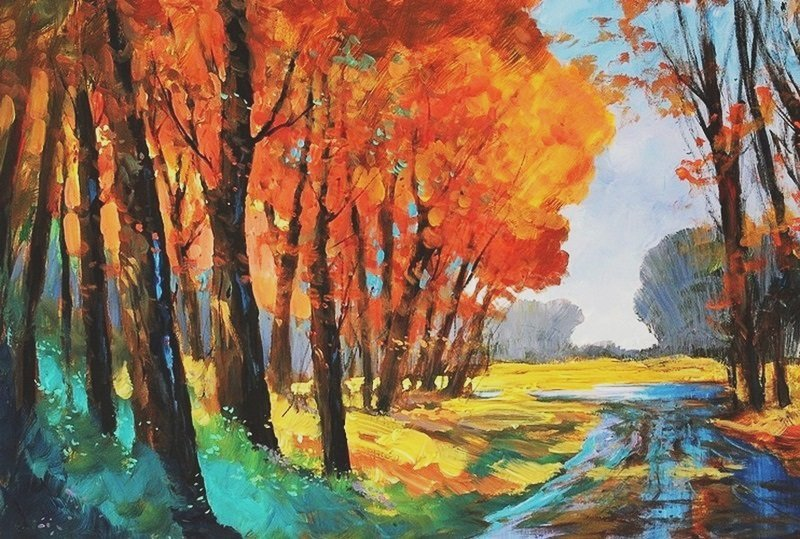 Fall Comes Fast -Michael Schofield 36x24