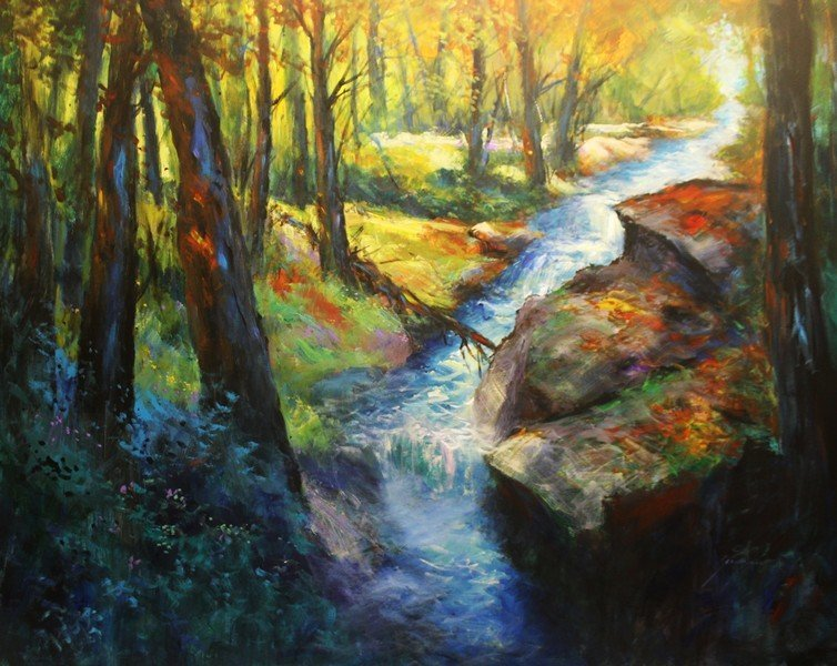River Rapids by Michael Schofield 48x60